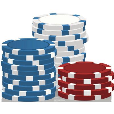 Vegas Gaming Chips Standup