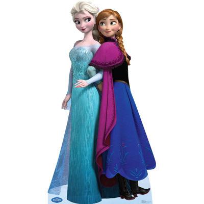 Disney Frozen Elsa and Anna Standup - 6' Tall