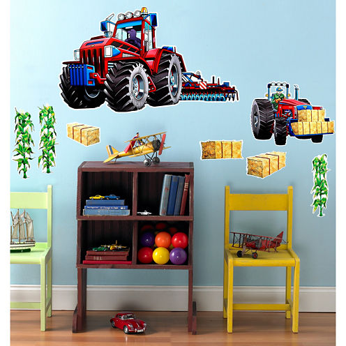 Farm Tractor Giant Wall Decal
