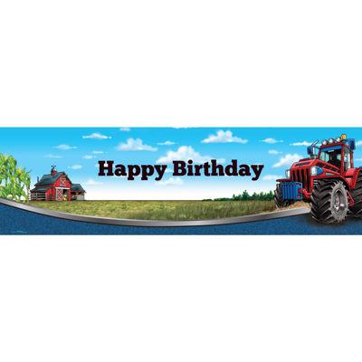 "Farm Tractor Birthday Banner Standard 18"" x 61"""