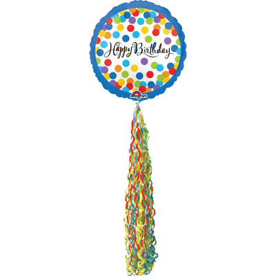 Happy Birthday Streamer AirWalker Foil Balloon