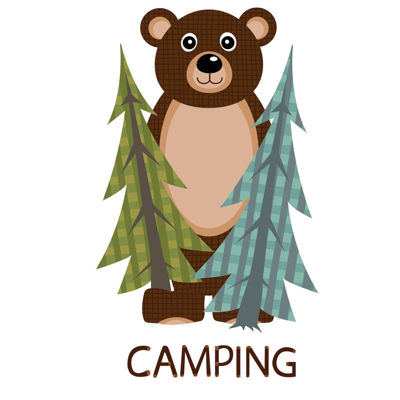 Let's Go Camping Standup - 5' Tall