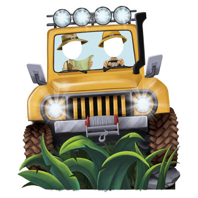 Jungle Party Jeep Standee Party Prop - 4.5' Tall