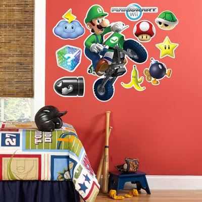 Mario Kart Wii Luigi Giant Wall Decal