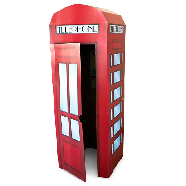 Superhero Comics Phone Booth Cardboard Stand - 6'Tall