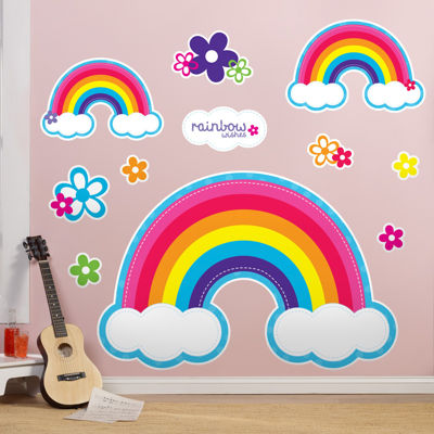 Rainbow Wishes Giant Wall Decals