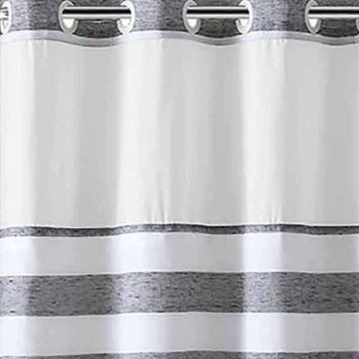 Hookless Yarndye Stripe Linen Shower Curtain - JCPenney