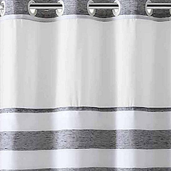 Hookless Yarndye Stripe Linen Shower Curtain