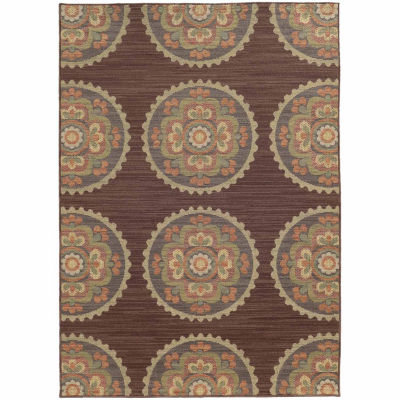 Covington Home Carmen Fiori Rectangular Indoor/Outdoor Rugs