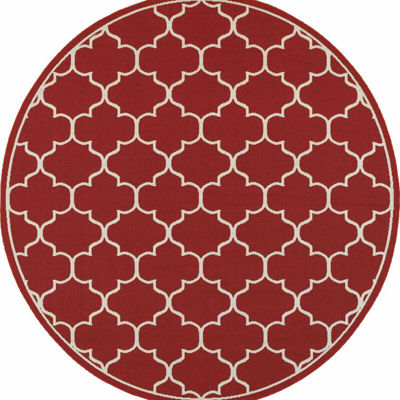 Covington Home Marathon Lattice Round Rugs