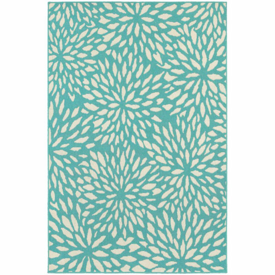 Covington Home Marathon Chrysanthemum Rectangular Rugs