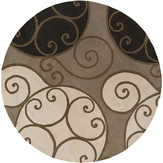 Decor 140 Biltmore Hand Tufted Round Indoor Rugs