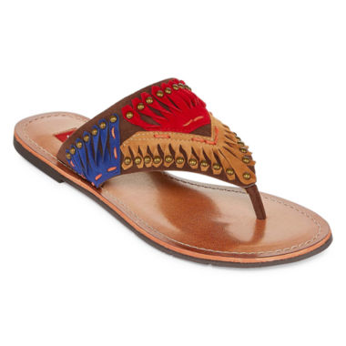 Just Dolce By Mojo Moxy Sangria Womens Flip-Flops