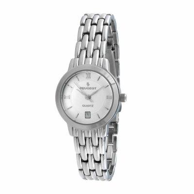 Peugeot Womens Silver Tone Bracelet Watch-144l