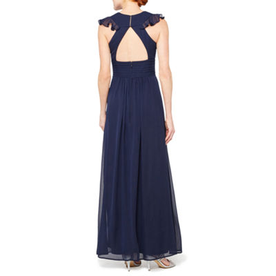 Blu Sage Sleeveless Evening Gown
