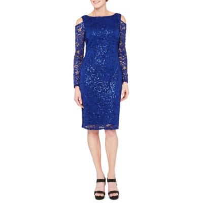Blu Sage Long Sleeve Party Dress