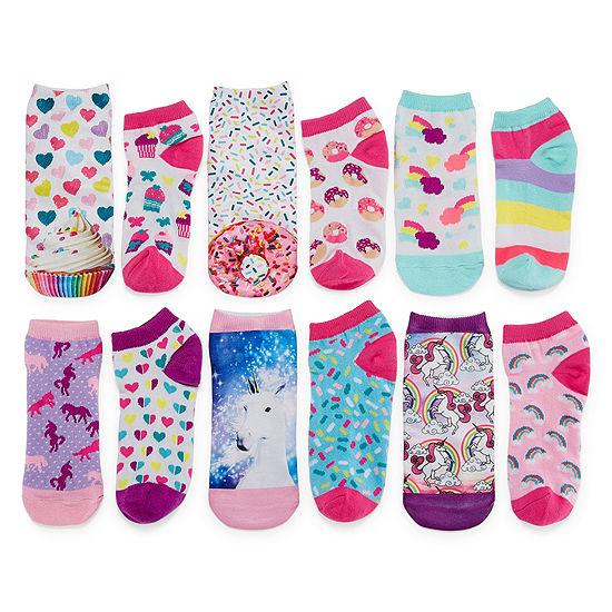 Total Girl Big Girls 6 Pair No Show Socks