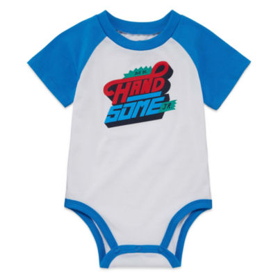 Okie Dokie Short Sleeve Graphic Bodysuit - Baby Boy NB-24M