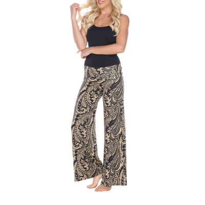 White Mark Summer Time Paisley Palazzo Pants