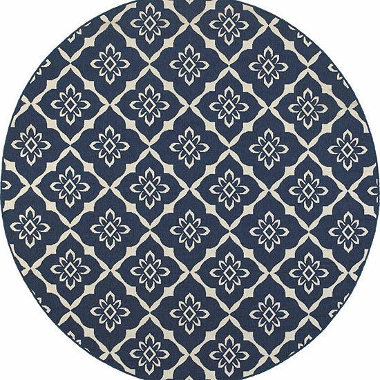 Covington Home Marathon Fleur Round Indoor/Outdoor Rugs