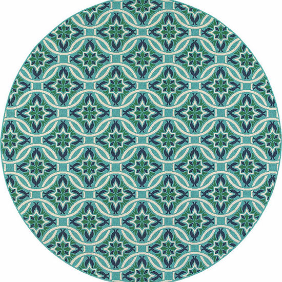 Covington Home Marathon Catena Round Indoor Outdoor Area Rug Jcpenney