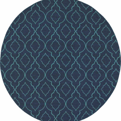 Covington Home Marathon Ornamento Round Indoor/Outdoor Area Rug