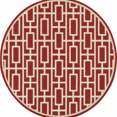 Covington Home Marathon Blocks Round Rugs