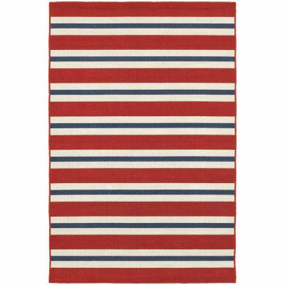 Covington Home Marathon Stripes Rectangular Indoor/Outdoor Rugs