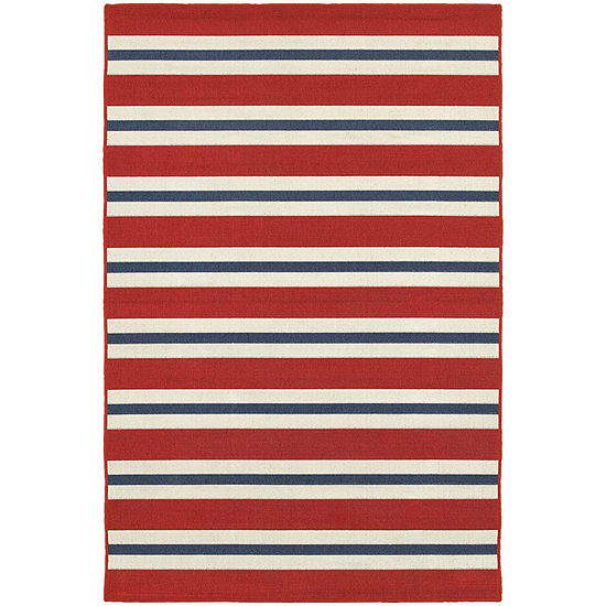 Covington Home Marathon Stripes Rectangular Indoor Outdoor Rugs