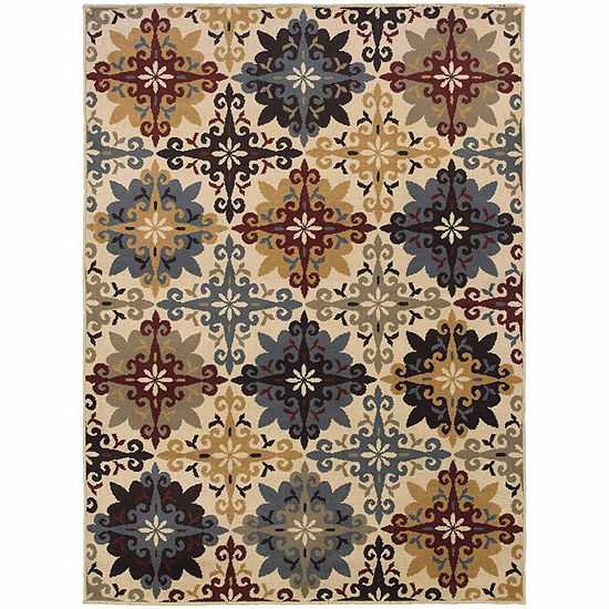 Covington Home Sterling Floret Rectangular Indoor Rugs