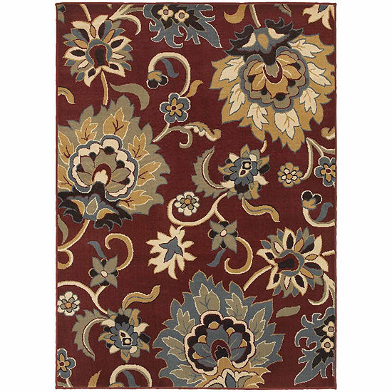 Covington Home Sterling Bloom Rectangular Indoor Rugs