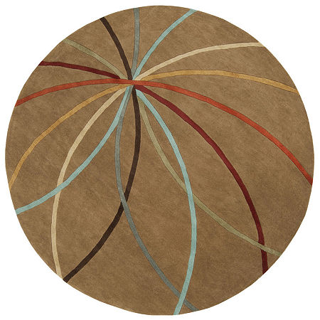 Decor 140 Obihiro Hand Tufted Round Indoor Rugs, One Size , Pink