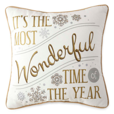 North Pole Trading Co. Most Wonderful Time Throw Pillow