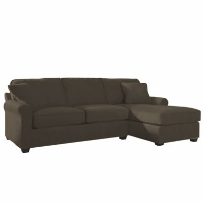 Fabric Possibilities Roll Arm 2-Pc Right Arm Chaise Sectional