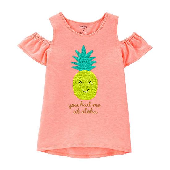 Carter's Girls Crew Neck Short Sleeve T-Shirt Preschool / Big Kid