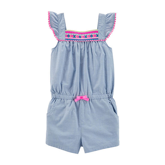 Carter's Girls Short Sleeve Romper - Toddler