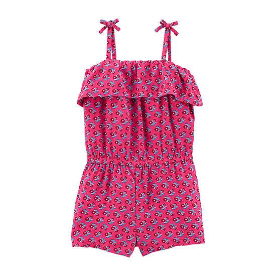 Carter's Girls Sleeveless Romper - Toddler