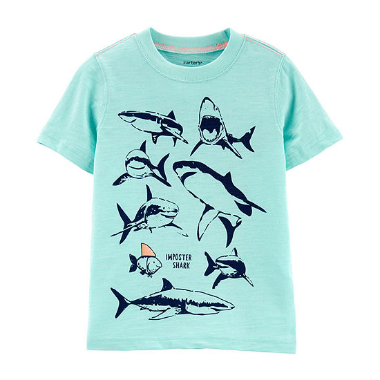 Carters Boys Crew Neck Short Sleeve Graphic T Shirt Toddler