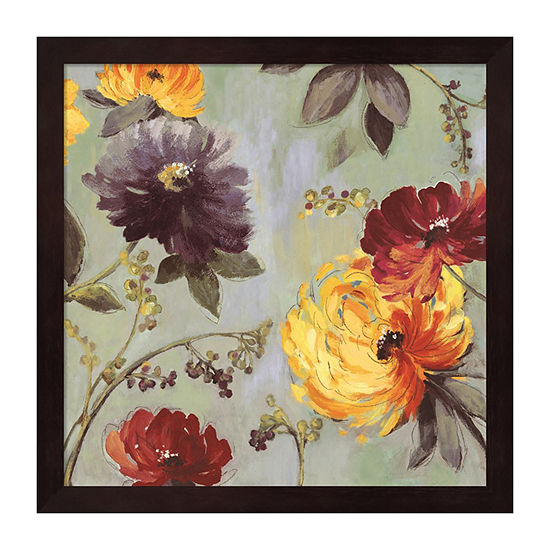 Metaverse Art Field Flowers I Framed Wall Art