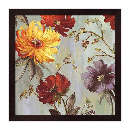 Metaverse Art Field Flowers II Framed Wall Art