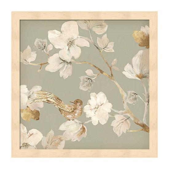 Metaverse Art Paradise Magnolia  II Framed Wall Art