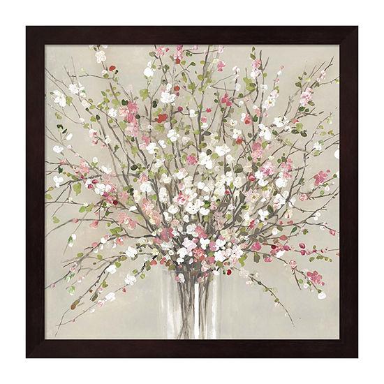 Metaverse Art Peach Blossom Framed Wall Art