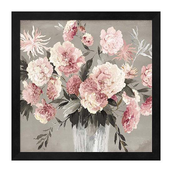 Metaverse Art Peach Bouquet Framed Wall Art