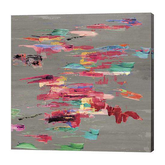 Metaverse Art Pink Pink Canvas Art