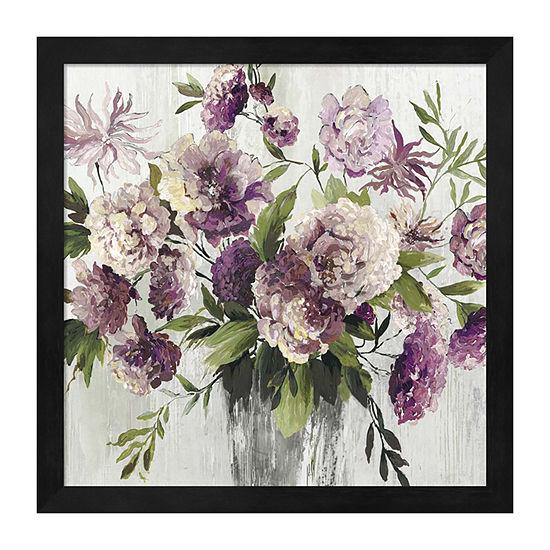 Metaverse Art Purple Bouquet Framed Wall Art