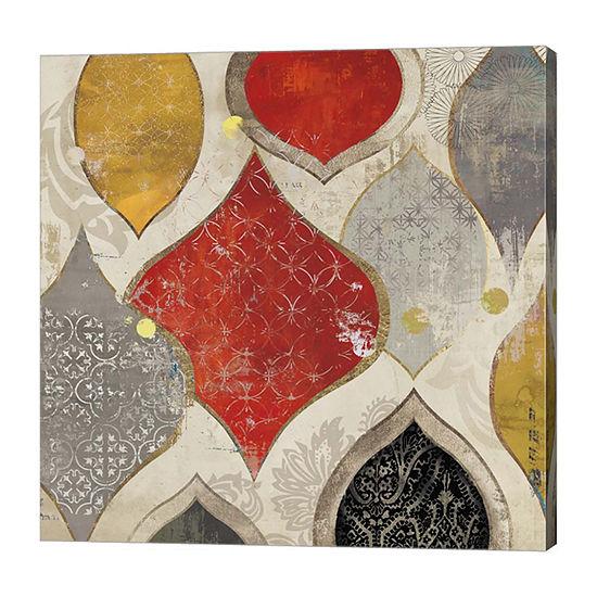 Metaverse Art Red Motif II Canvas Art