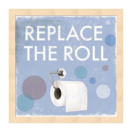Metaverse Art Replace the Roll Framed Wall Art
