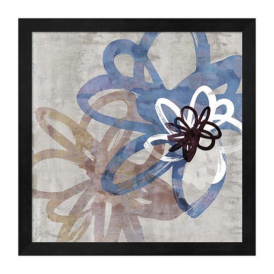 Metaverse Art Scribbled Floral II Framed Wall Art