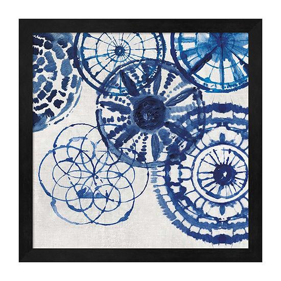 Metaverse Art Shibori Rings II Framed Wall Art
