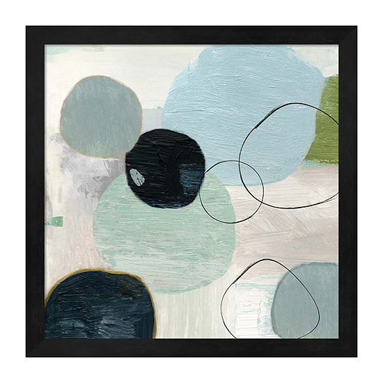 Metaverse Art Soft Circle I Framed Wall Art